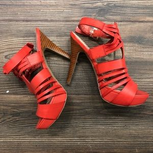 STRAPPY RED GUESS STILETTOS